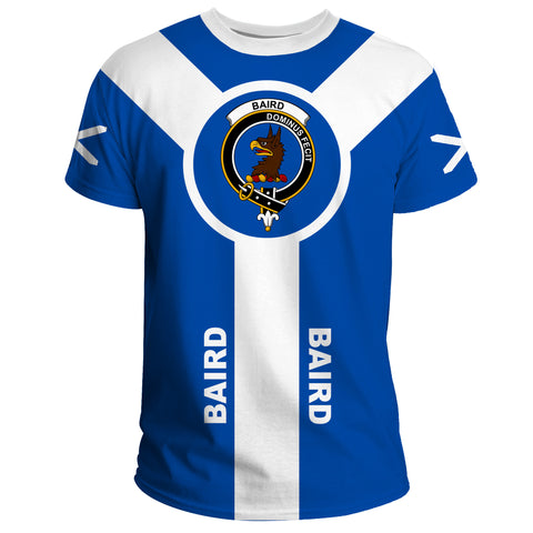 Baird Crest T-Shirt Unisex Scottish Flag A7