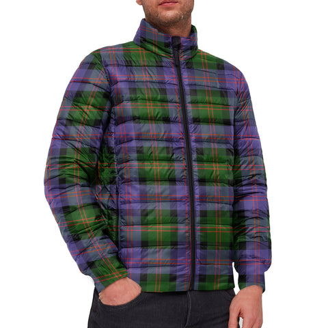 Tartan Padded Jacket -  Blair Modern Scottish Stand Collar Padded Jacket A7