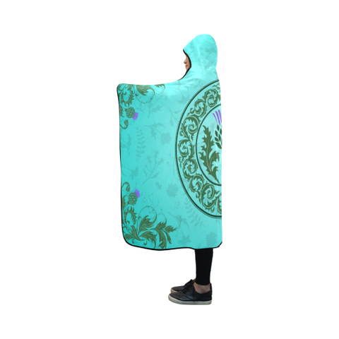 Image of Scotland Green Thistle - Hooded Blanket | Special Custom Design