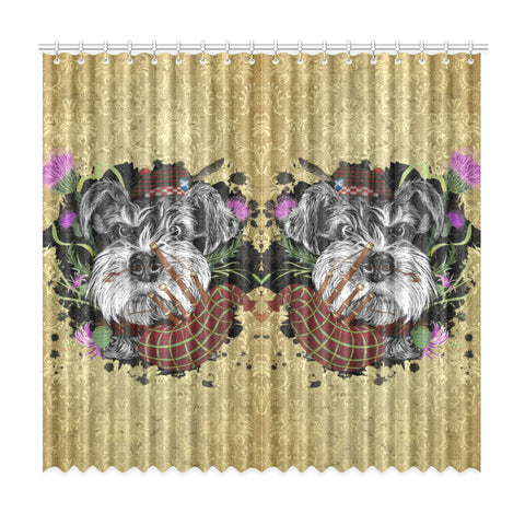 Scotland Window Curtain - Scottish Terrier And Thistle Vintage | Love The World