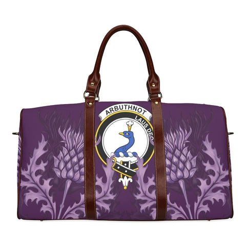 Arbuthnot Crest Scottish Thistle Scotland Travel Bag | Over 300 Clans