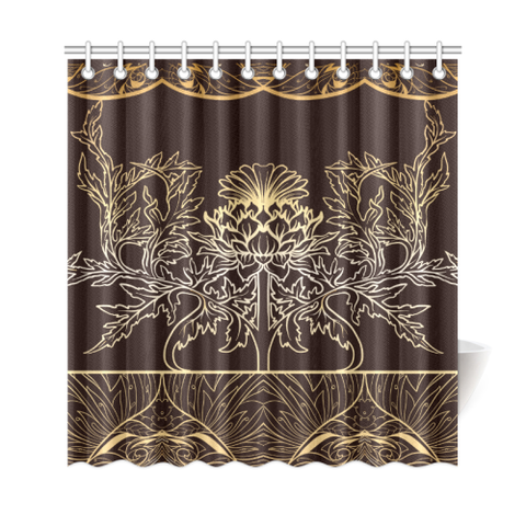 Thistle Pattern - Shower Curtain | Special Custom Design