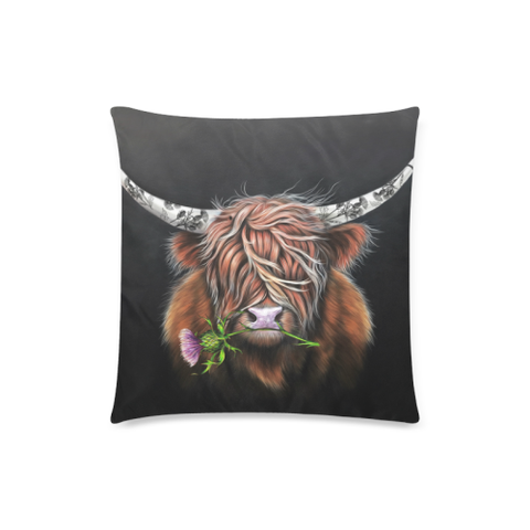 Thistle Highland Cow - Pillow Covers | Special Custom Design