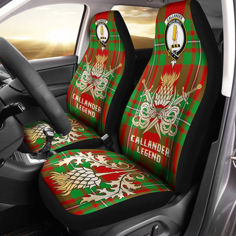 Car Seat Cover Callander Modern Clan Crest Gold Thistle Courage Symbol