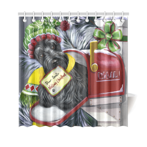 Christmas Scottie Letter For Santa - Shower Curtain | HOT SALE