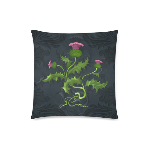 Image of Scotland Pillow Case - Scottish Thistle Dark Blue A24
