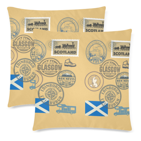 Travel Stamps 01 - Scotland Pillow Covers | Special Custom Design