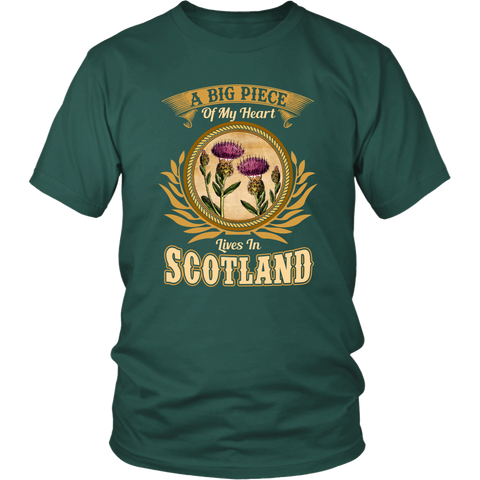Image of A Big Piece Of My Heart Scotland T-Shirts | HOT Sale