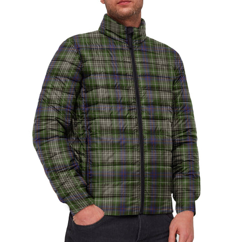 Tartan Padded Jacket -  Davidson Tulloch Dress Scottish Stand Collar Padded Jacket A7