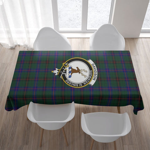 Davidson Crest Tartan Tablecloth | Home Decor
