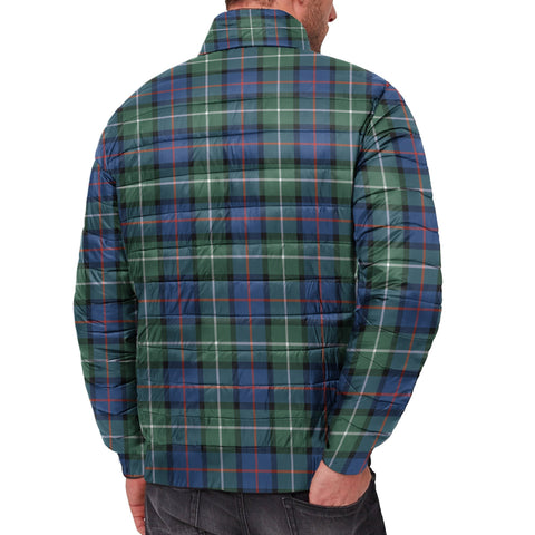 Tartan Padded Jacket -  Davidson of Tulloch  Scottish Stand Collar Padded Jacket A7