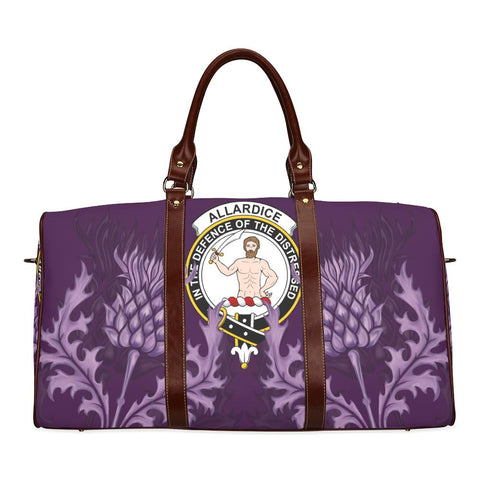 Allardice Crest Scottish Thistle Scotland Travel Bag | Over 300 Clans