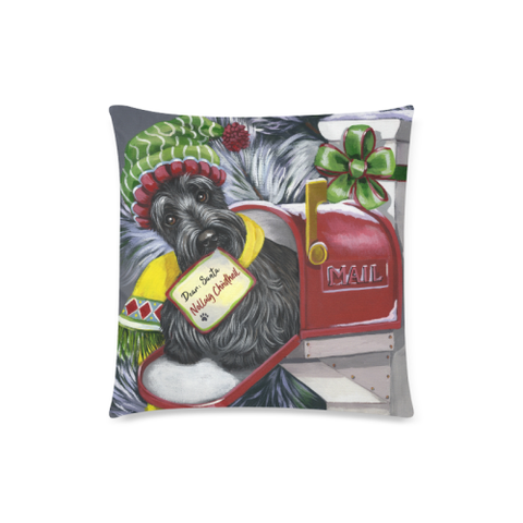 Image of Christmas Scottie Letter For Santa - Pillow Covers | HOT SALE