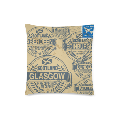 Travel Stamps  - Scotland Pillow Covers | Special Custom Design