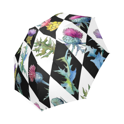 Image of Scottish Thistle Pattern - Scotland Umbrella | HOT Sale