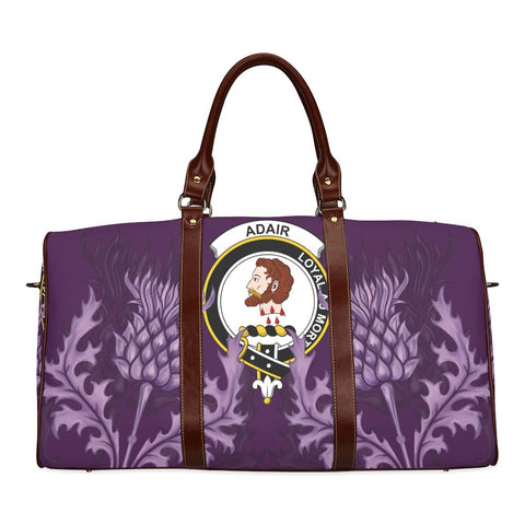 Image of Adair Crest Scottish Thistle Scotland Travel Bag | Over 300 Clans