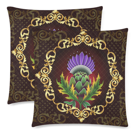 Image of Scotland Pillow Case - Thistle Special Gold | Love Scotland