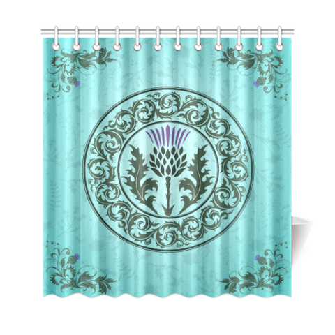 Green Thistle - Shower Curtain | Special Custom Design