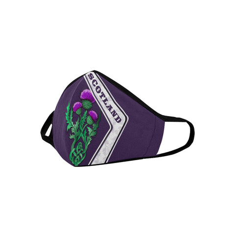 Scotland Mouth Mask Scottish Thistle Purple | Love Scotland