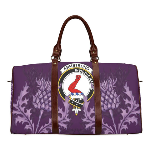 Armstrong Crest Scottish Thistle Scotland Travel Bag | Over 300 Clans