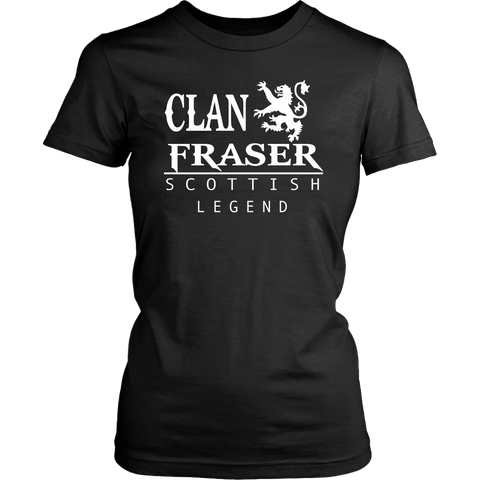 Image of Clan Fraser Scottish Legend T-Shirts And Hoodies | Exclusive Over 300 Clans | Love Scotland