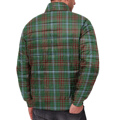 Tartan Padded Jacket -  Gayre Scottish Stand Collar Padded Jacket A7