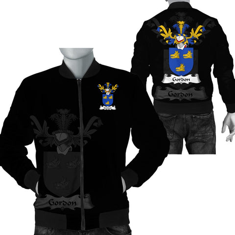 1stScotland Gordon (Duke of Gordon) Family Crest Bomber Jacket (Women's/Men's) A7