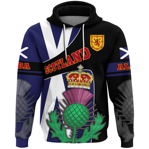 1stScotland Hoodie - Thistle, Scotland Coat Of Arms and Flag A31