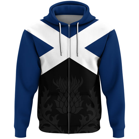 Image of 1stScotland Zip Hoodie Thistle X - Scotland A65