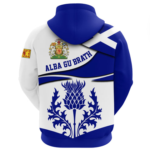 1stScotland Zip Hoodie - Thistle Coat Of Arms A24