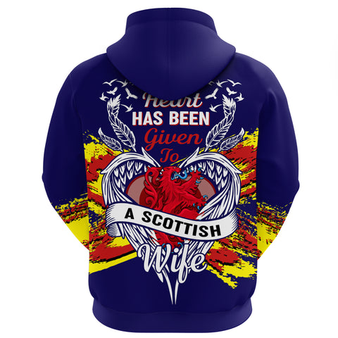 1stScotland Hoodie - My Heart Has Been Given To A Scottish Wife | 1stScotland