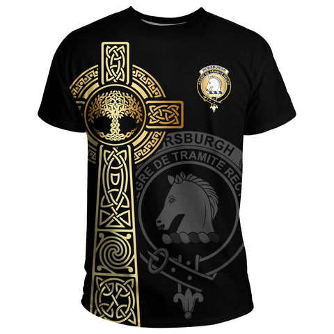 Horsburgh T-shirt Celtic Tree Of Life Clan Black Unisex A91