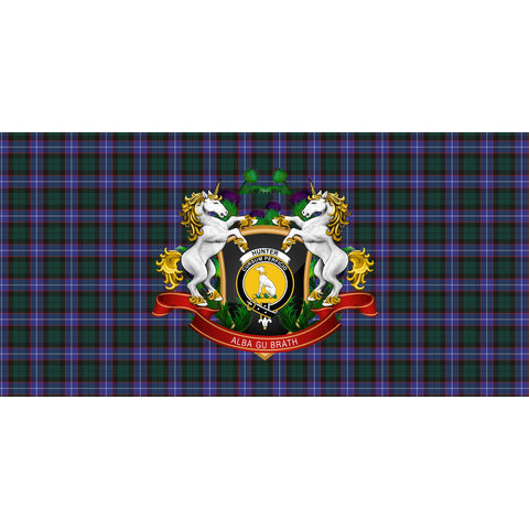 Image of Tartan Tablecloth, Hunter Modern Unicorn Thistle Scottish Tablecloth A30