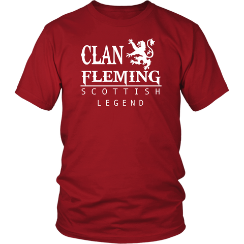 Image of Clan Fleming Scottish Legend T-Shirts And Hoodies | Exclusive Over 300 Clans | Love Scotland