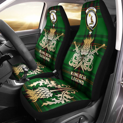 Car Seat Cover Kinloch Clan Crest Gold Thistle Courage Symbol