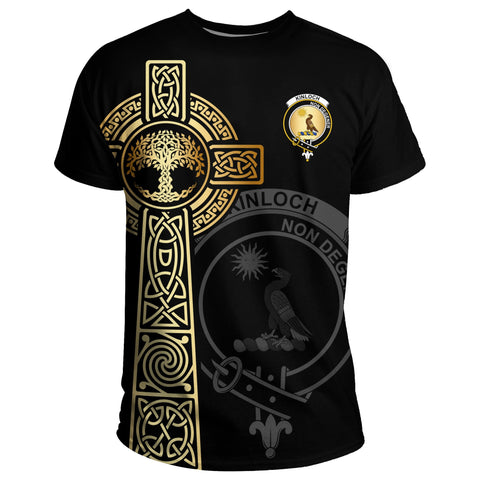 Kinloch T-shirt Celtic Tree Of Life Clan Black Unisex A91