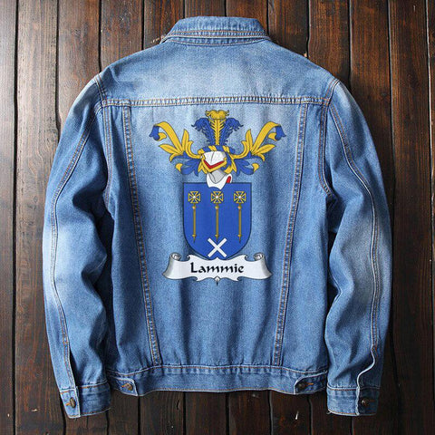 Lammie Family Crest Denim Jacket | Over 1200 Crests | Fast International Shipping