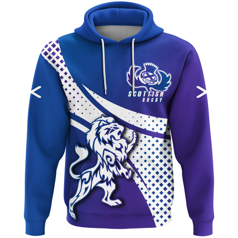 1stScotland Hoodie - Scottish Rugby Thistle Rampant Lion A30