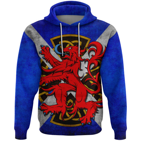 1stScotland Hoodie, Scottish Rampant Lion Celtic