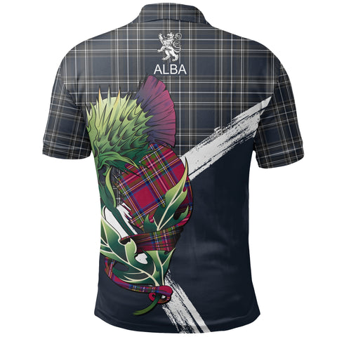 Scotland Thistle Tartan Polo Shirt | Women & Men | Clothing