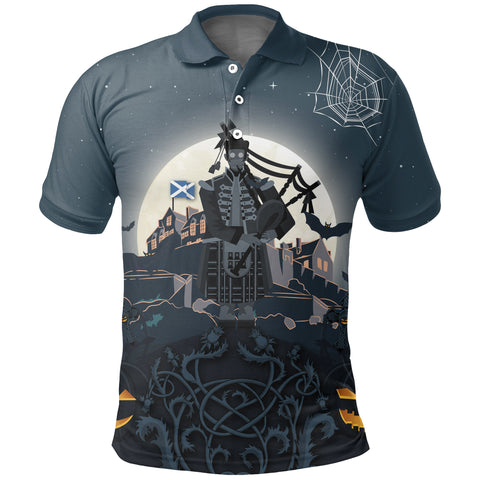 Scottish Piper Halloween Polo Shirt | Special Custom Design