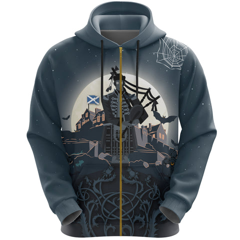 Scottish Piper Halloween Zip Hoodie | Special Custom Design