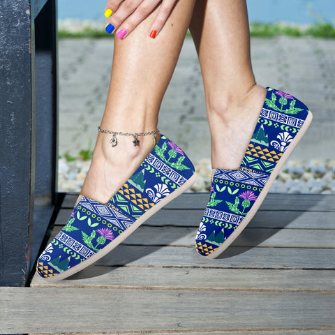 Blue Thistle Pattern - Women's Casual Shoes | HOT SALE