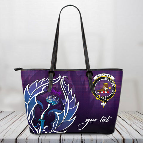 MacAuley Scotland Leather Tote Bag / Leather Tote Bag Scottish Clan A10