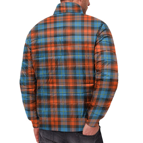 Tartan Padded Jacket -  MacLachlan Ancient Scottish Stand Collar Padded Jacket A7