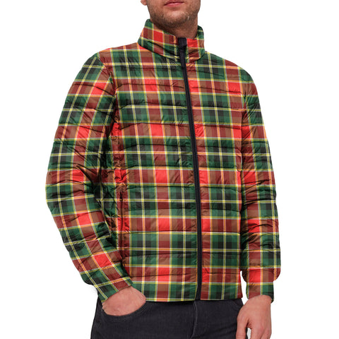 Tartan Padded Jacket -  MacLachlan Hunting Modern Scottish Stand Collar Padded Jacket A7