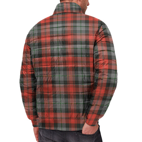 Tartan Padded Jacket -  MacLachlan Weathered Scottish Stand Collar Padded Jacket A7