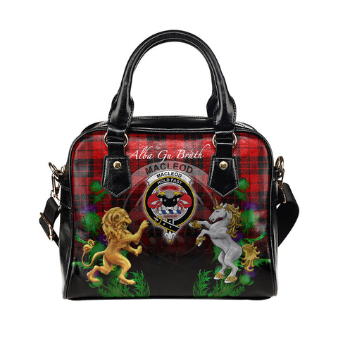 MacLeod of Raasay Crest Tartan Lion Unicorn Thistle Shoulder Handbag