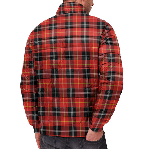 Tartan Padded Jacket -  Marjoribanks Scottish Stand Collar Padded Jacket A7
