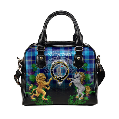 McKerrell Crest Tartan Lion Unicorn Thistle Shoulder Handbag